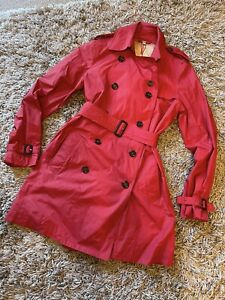 Burberry Trench Coat Red - Size 10