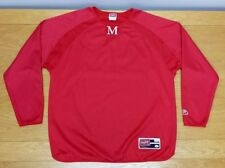 """Rawlings """"M"""" # 44 Red 100% Polyester Baseball Warm Up Pullover L Men's Large"""