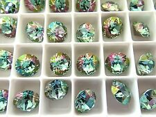 6 Aquamarine Lemon Swarovski Crystal Chaton Stone 1088 39ss 8mm