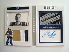2016 Panini Playbook Jared Goff Booklet Auto & Dual Patch Rookie #'d 3/5