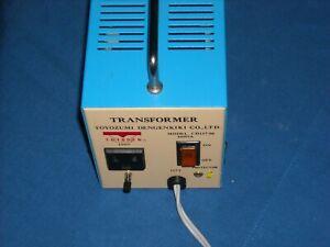 Toyozumi Dengenkiki CD117-06 Step Down Transformer 120V-100V 600VA