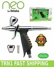 NEW IWATA NEO HP.TRN1 .35mm AIRBRUSH SPRAY GUN KIT BODY ART GRAVITY ACTION PAINT