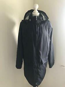 AIGLE black zipper hooded jacket coat , size 14 EU42