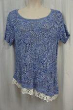 INC International Concepts Woman Top Sz 1X Goddess Blue Sweater Knit Top Casual