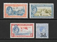 1938 King George VI SG158 to SG161 Set of 4 Stamps  Mint Hinged BAHAMAS