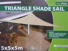 Sonnensegel Sonnenschutz Sonnendach Dreieck 5x5x5 m NEU