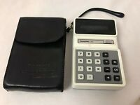 Vintage Panasonic Electric Calculator Model JE-883U, DC/13V/1.2W, with Case