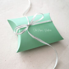 AQUA PILLOW BOXES Green Small Favours Wedding Baby Shower 20 pcs