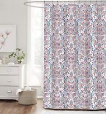 "Envogue 100% COTTON BALMONT Collection Sari Shower Curtain, 72"" X 72""  DAMASK"