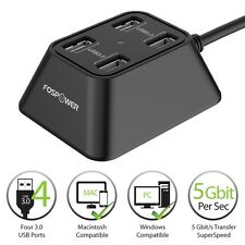 Fospower 4 Port USB 3.0 High Speed 5Gbps Portable Hub Adapter For PC Laptop Mac