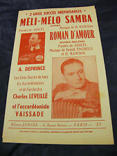 Partition Méli Melo samba Rawson Roman d'amour A Deprince Vaissade