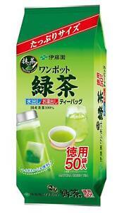 Japanese Itoen Matcha Green Tea One Pot Hot and Cold 50 Tea bags