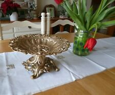Antique Victorian Comport-Solid Cast Brass with Stunning Embossed Design