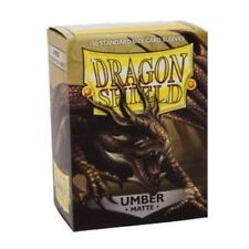 Matte Dragon Shields Standard Size Card Protector Sleeves MTG 100ct Umber box