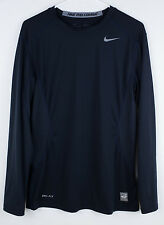 NIKE PRO COMBAT Shirt DRI-FIT Fitted Base COMPRESSION Men's Small Long Sleeve