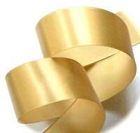 "Gold Satin Ribbon 25mm / 1"" Wide x 2 Metre Length - Gift Wrap Craft Cake Bows"