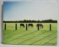 """GRAZING PEACEFULLY"" original oil painting"