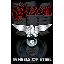 Saxon Wheels of Steel Poster Flag Official Fabric Premium Textile New