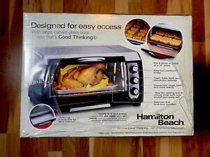 Hamilton Beach Convection Toaster Oven 6 Slice Broil   31331D