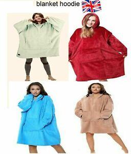 Hoodie Blanket Oversized Soft Sweatshirt Unisex Hoodie Warm Coat Hooded Fleece