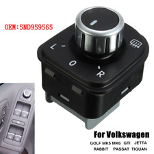 Side Mirror Adjust Knob Control Switch For VW Jetta Golf MK5 MK6 Passat Tiguan