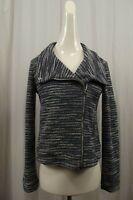 NEW Ann Taylor LOFT Womens Blazer XS X-Small Jacket Blue NWT Tweed Full Zip