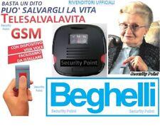 BEGHELLI TELESALVALAVITA SALVA VITA SALVAVITA GSM PORTATILE MOBILE SIM VIVAVOCE!