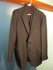 Black MEN'S SUIT JACKET AND VEST by MONTGOMERY WARD AND COMPANY