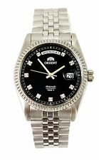 """Orient """"Oyster"""" Sapphire Classic Automatic Watch Black Dial CEV0J003BY"""