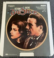 Vintage The Big Sleep Movie Ced Selectavision Video Disc Rare Humphrey Bogart