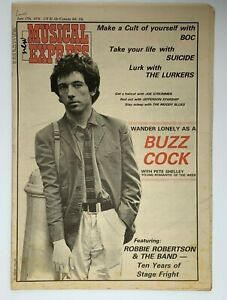 NME 17 June 1978  Pete Shelley BOC Suicide Lurkers Robbie Robertson & The Band