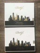 DAVIDOFF EXCLUSIVE NYC Downtown Empty Cigar Box Set Of 2
