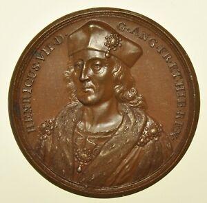 HENRY VII 1509, 41mm MEMORIAL MEDAL, FOR KINGS & QUEENS OF ENGLAND SERIES 1731