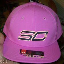 Under Armour Boys SC Stephen Curry Snapback Baseball Cap Flat Bill ~ Fuschia $25