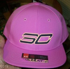 Under Armour Boys SC Stephen Curry Snapback Baseball Cap Flat Bill ~ Fuschia $25