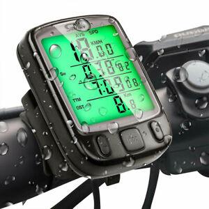 Bicycle Speedometer Mountain Bike LCD Computer Backlight Odometer Waterproof