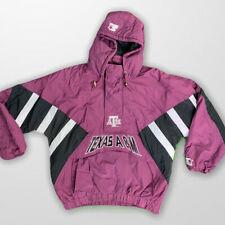 Vintage STARTER College Football Texas A&M 1/2 Zip Pullover Jacket