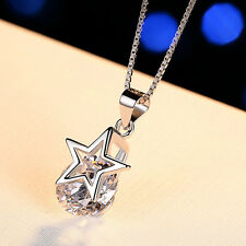 Fashion Pentagram Pendant Necklace Crystals For Women Statement Jewelry