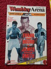 "Programa de boxeo-Frank Bruno V James ""Bonecrusher"" Smith 1984"