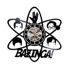 The Big Bang Theory Vinyl Record Wall Art Clock Gift Idea For Fan Bazinga Girls