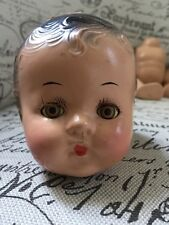Vtg 20's Composition Doll Parts Compete Mechanical Eyes Molded Hair Girl