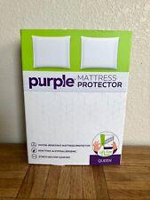 Purple Mattress Protector, Queen in White