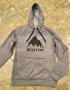 Burton Men's Sz SMALL Crown Bonded Pullover Performance Hoodie Gray