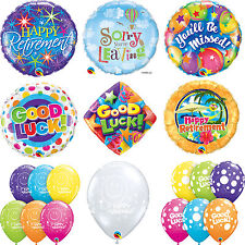 RETIREMENT - GOOD LUCK Latex & Foil Balloons (Qualatex) Party/Decoration (Helium