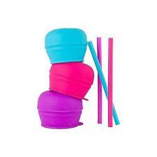 Boon Snug Straw 3pk Lids - Pink Multi