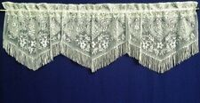 3 in 1 Chantilly Lace Valance ivory Kitchen Dining Room Livingroom Bedroom