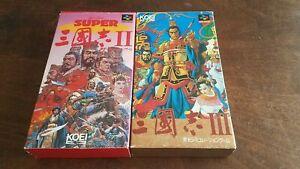 2x Super Famicom Romance of the Three Kingdoms 2 and 3 JAPAN imports US SELLER👍