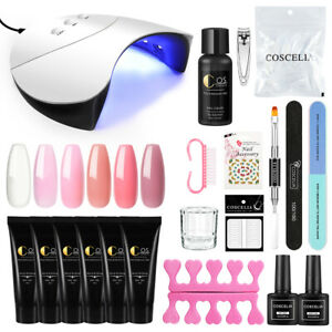 COSCELIA Quick Building Nail Tips Extension Builder Gel UV/LED Poly Nail Gel Set