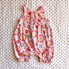 Fresh Produce Pink Floral Romper Sunsuit Girls Sz 24 Months
