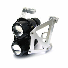 Motorbike Dual Stacked Streetfighter Projector Headlight Set bracket 42/43mm